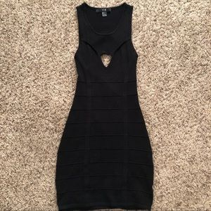 Black bodycon backless dress